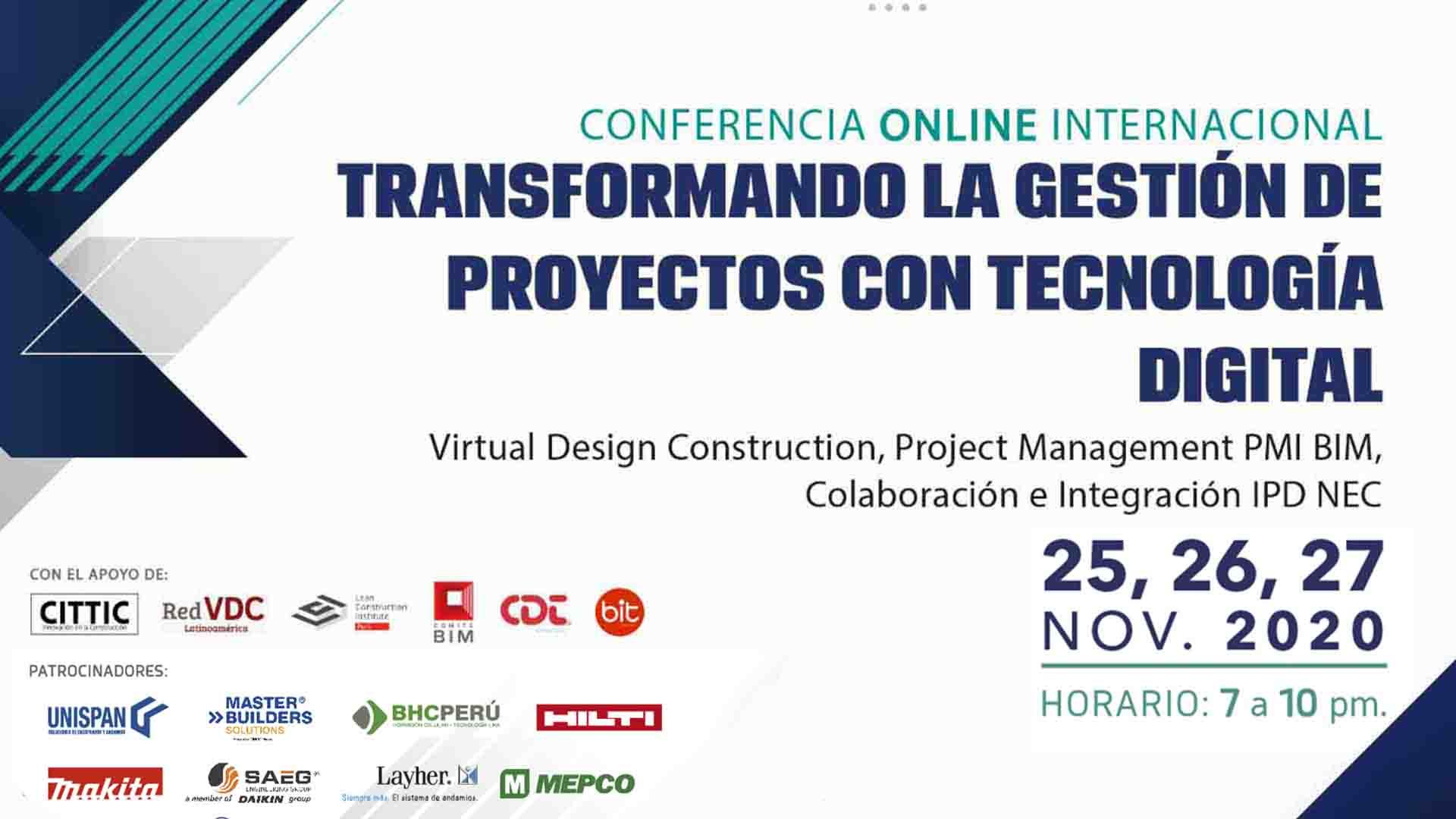 Conferencia Online - Transformado la gestión de proyectos con tecnología digital
