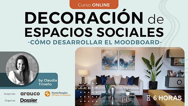 Complementos decorativos en espacios sociales y de descanso - cómo desarrollar el moodboard