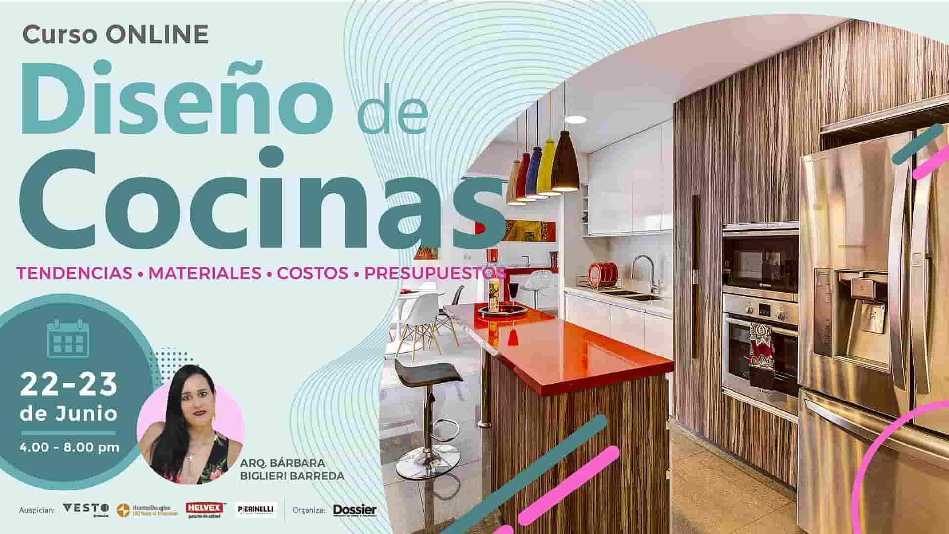 Diseño de cocinas, tendencias, materiales, costos y presupuestos