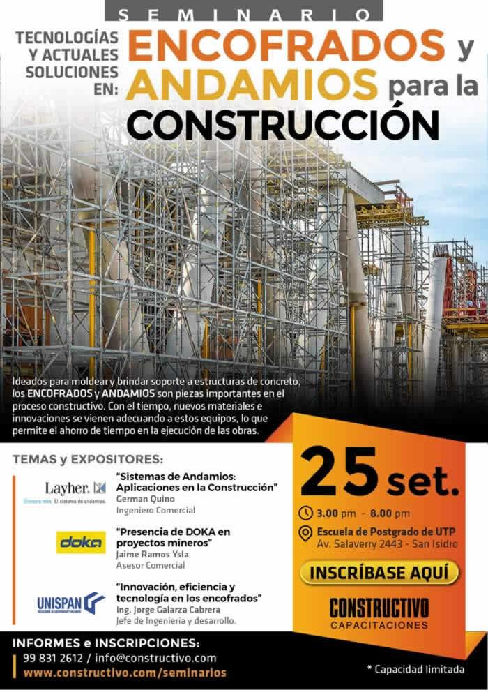 Tecnologías y Actuales soluciones en: Encofrados y Andamios para la Construcción