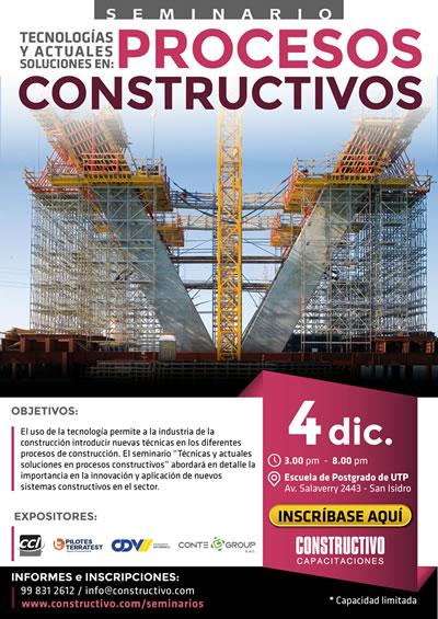 Seminario Técnicas y actuales soluciones PROCESOS CONSTRUCTIVOS