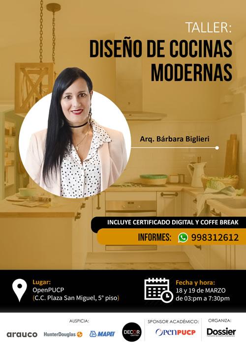Taller: Diseño de cocinas modernas