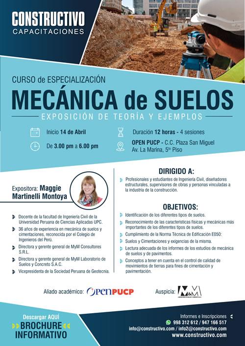 Curso de ESPECIALIZACIÓN MECÁNICA de SUELOS