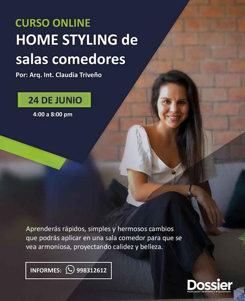 Curso Especializado Online: Home Styling de salas comedores