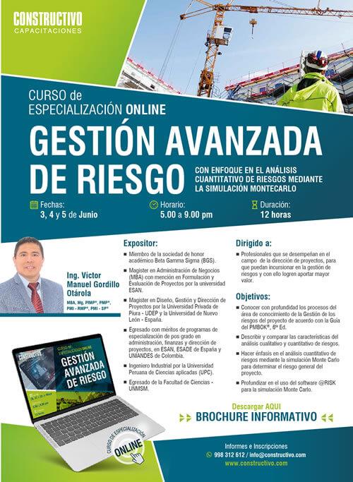 Curso de Especializazión ONLINE en Gestión Avanzada de Riesgo en la Construcción