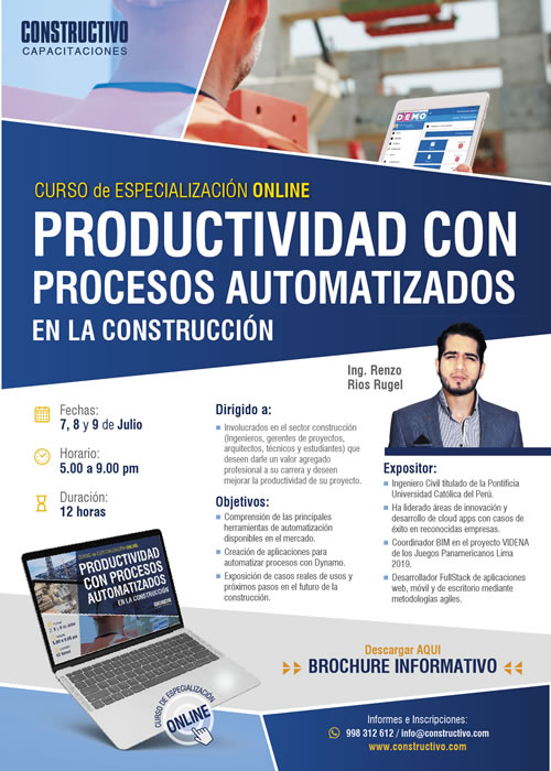 Curso de Especialización Online PROCESOS BIM automatización y mejoras