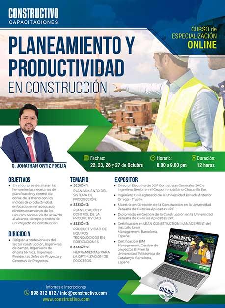 Planeamiento y productividad de obras como estrategias de éxito en los proyectos