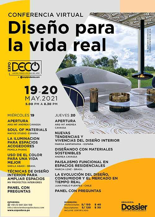Conferencia Virtual Diseño para la vida real