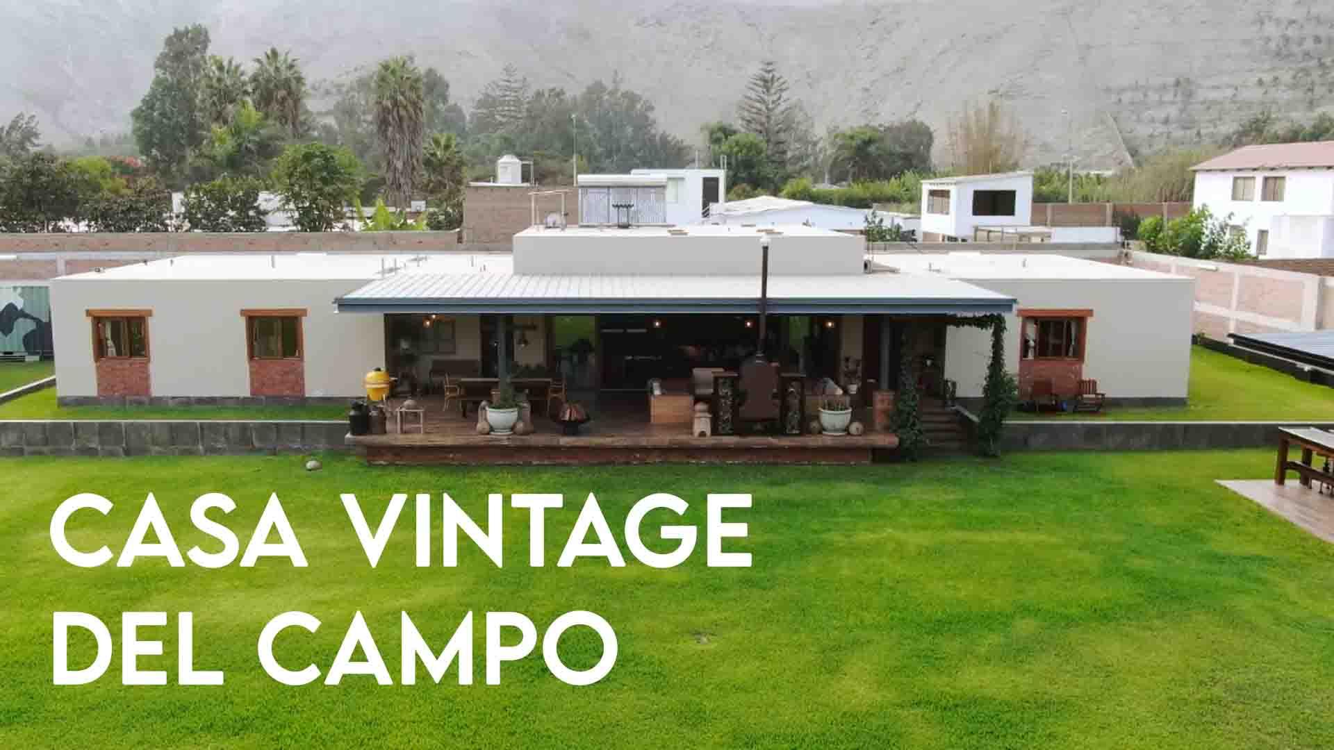 Casa vintage del campo