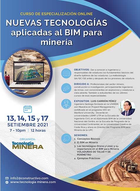 Nuevas tecnologías aplicadas al BIM para minería